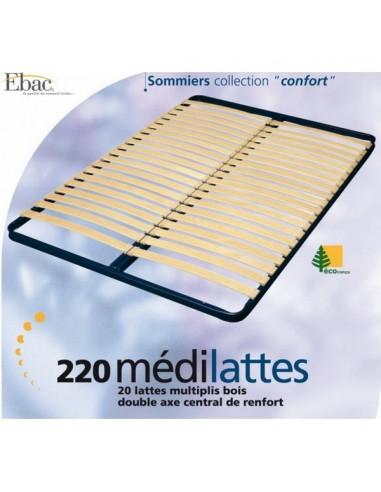 Sommier Cadre à Lattes 90x190 EBAC REF22090